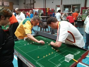 Robert Green V Thomas Vulpes at the FISTF world cup.