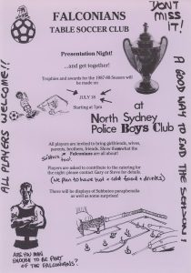 1988 falconians presentation night