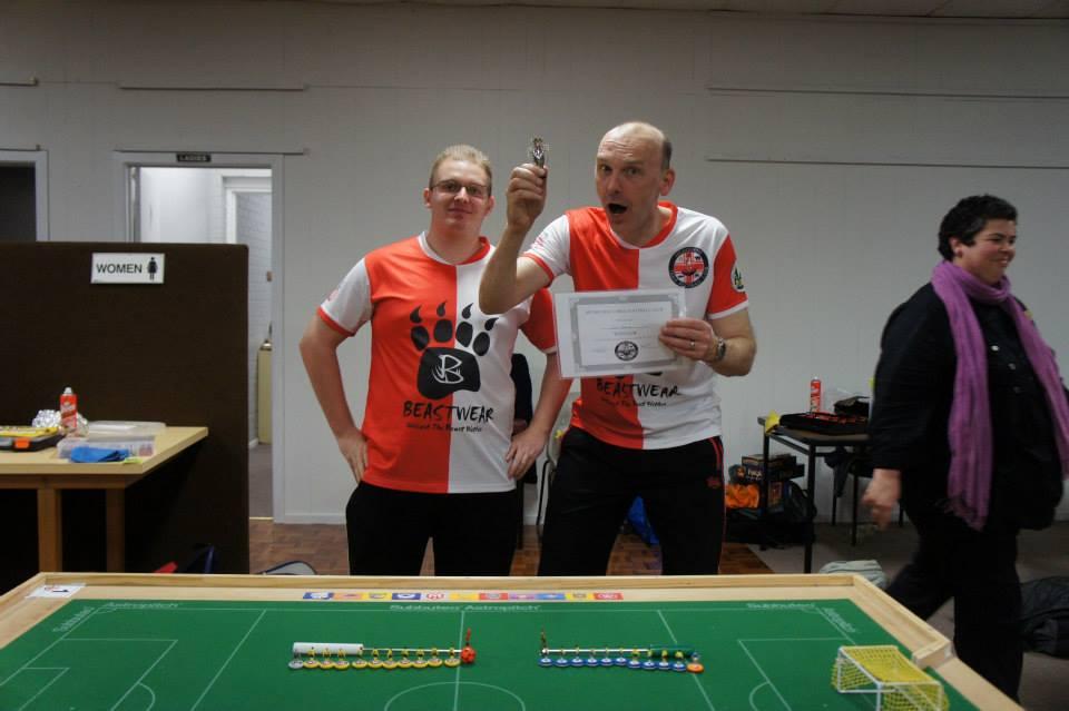 Worthy Winner Carl Young with MTFC President Luke Radziminski