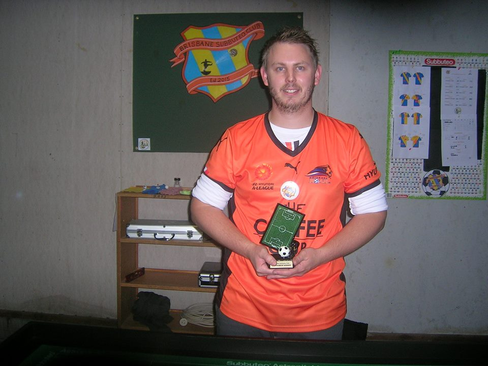 Tournament Winner Andrew Bennett