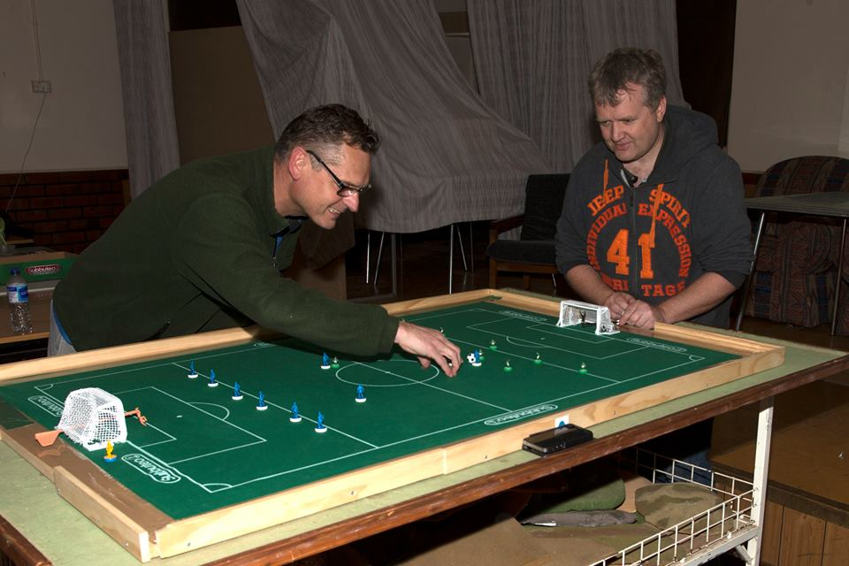Jeremy Simpson vs Reuben Haughey in the first official Subbuteo match (WASPA points) played in Adelaide