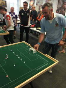 Simon Hill makes his long awaited comeback to Subbuteo action