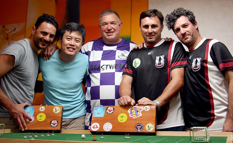 Daniele, John Ho, Steve, Raffaele and Adrian.