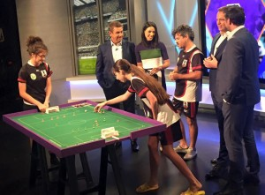 Table Football on Foxsports' 'Shooutout' program