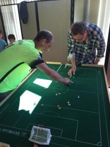 Two 'old school': Geoff Sirmai and Jon Ball