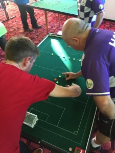 Peter and Gary in action in the final