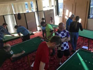 Lots of action at the Bronte Bowling Club