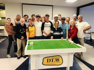 Some of the Melbourne based table football community that gathered for the Anzac Eve battle for Testicular Cancer Awareness.