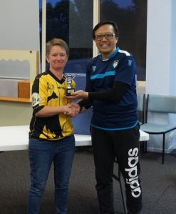 Women and Open winners - Beth Eveleigh and Benny Ng